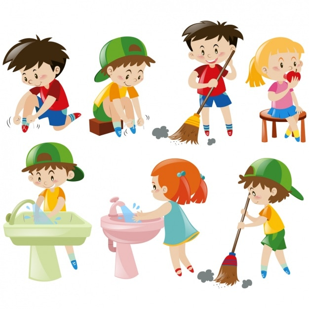 Kid designs collection Free Vector