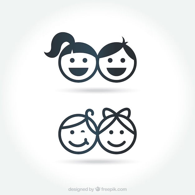 Kid icons Free Vector