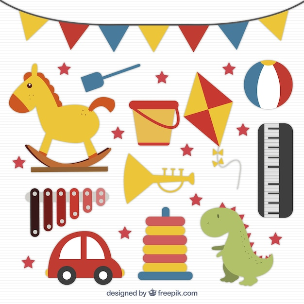 Kid Toys Pack Vector Free Download