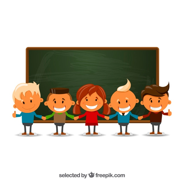 Kids at school Free Vector