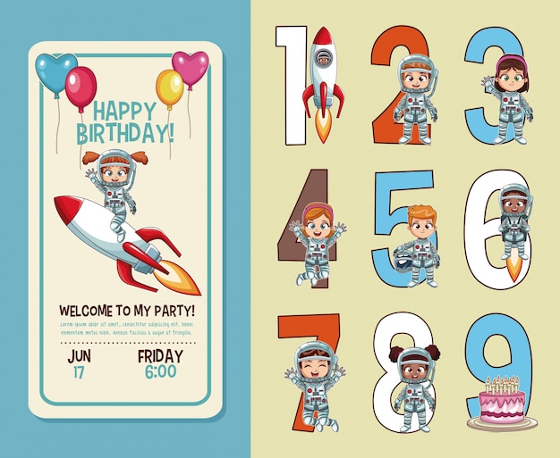 kids birthday party invitation card