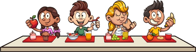 Kids breakfast Premium Vector