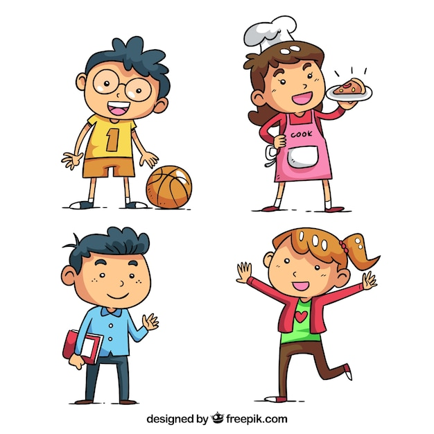 kids character pack vector free download rh freepik com kids victorian clothing kids victoria tx