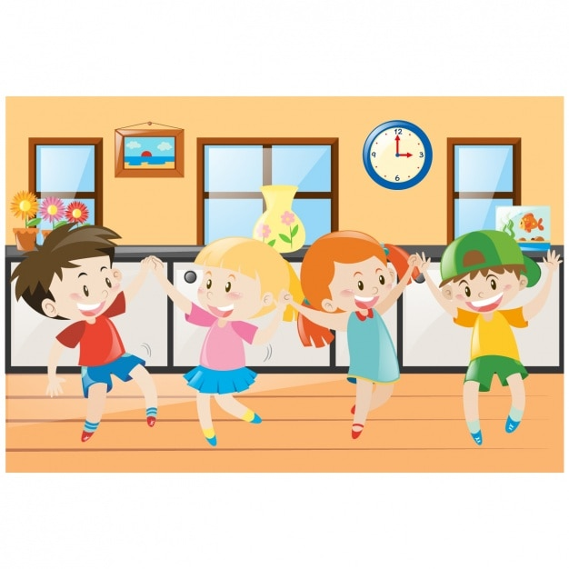 Kids dancing background