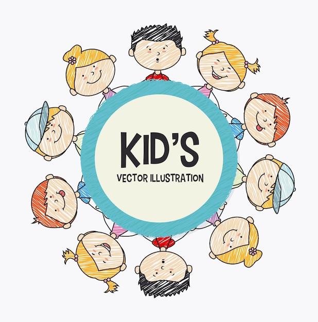 Kids design Premium Vector