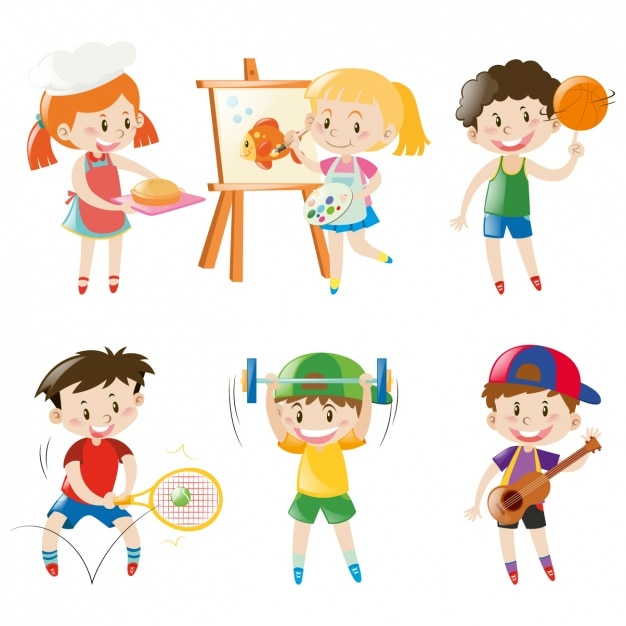 Free Vector Kids Having Fun Collection