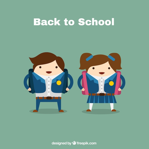 Kids illustration for back to school