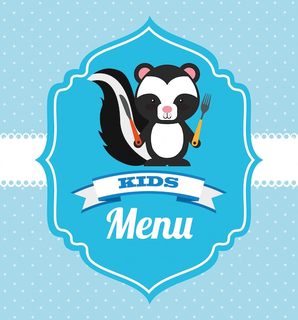 Kids menu design Free Vector