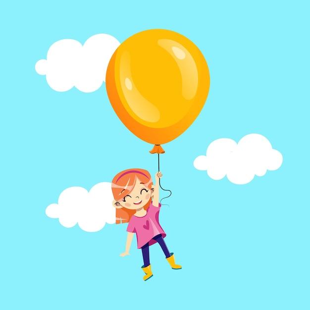 Детская вечеринка, концепция приглашения на праздник детей. Premium векторы