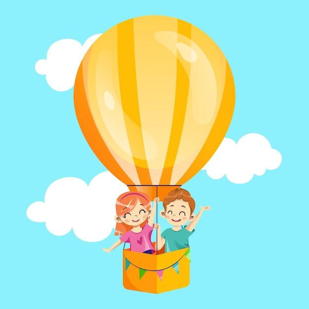 Концепция приглашения партии детей. Premium векторы