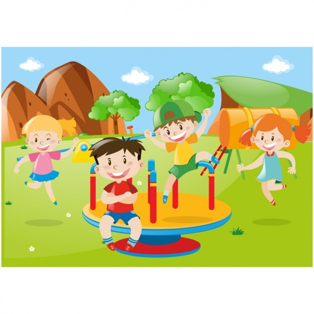 kids playing background vector free download