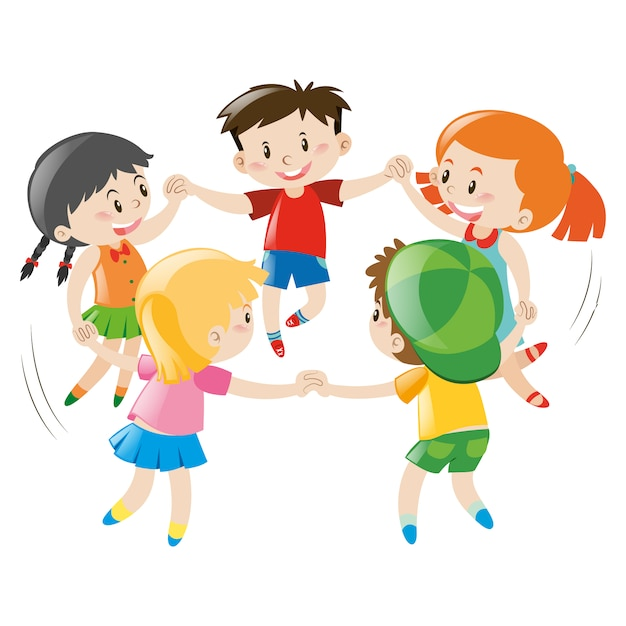 kids playing design free vector - Cartoon For Kids Download