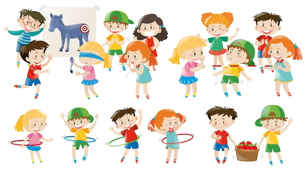 Image result for kids playing cartoon