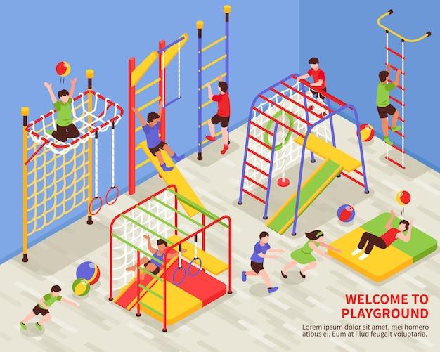 Kids sports playground background Free Vector