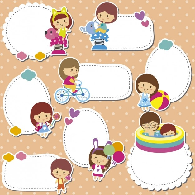 kids stickers free vector - Kids Pics Free Download