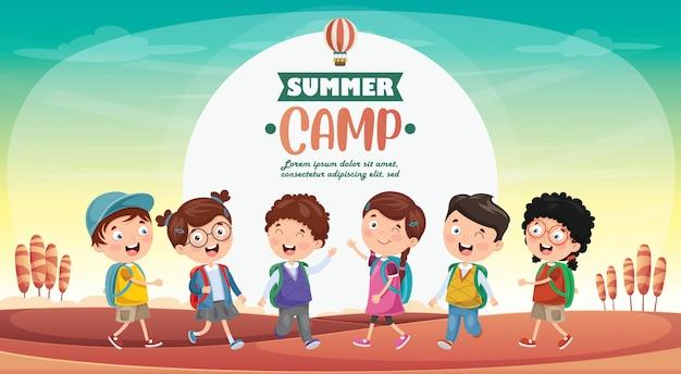 Kids summer camp Premium Vector