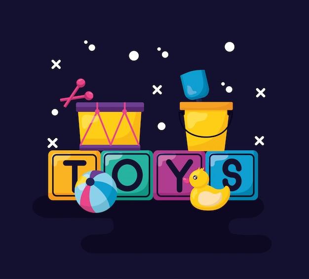 キッズおもちゃデザイン 無料ベクター
