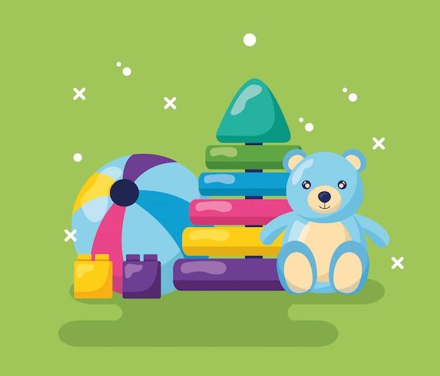 Progettazione di giocattoli per bambini Vettore gratuito