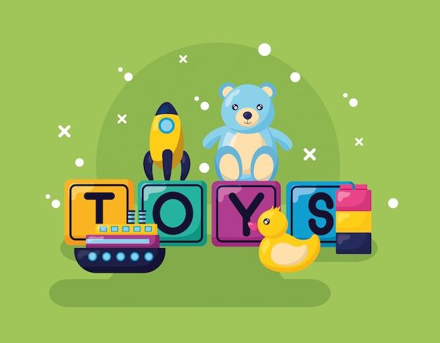 Kids toys design Free Vector