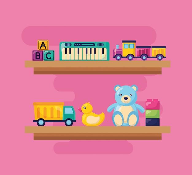 Illustrazione di giocattoli per bambini Vettore gratuito