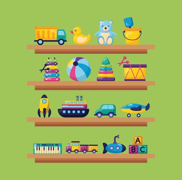 Kids toys illustration Vector | Free Download