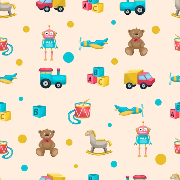 Free Vector | Kids toys pattern