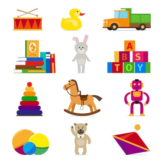 Kids toys Premium Vector