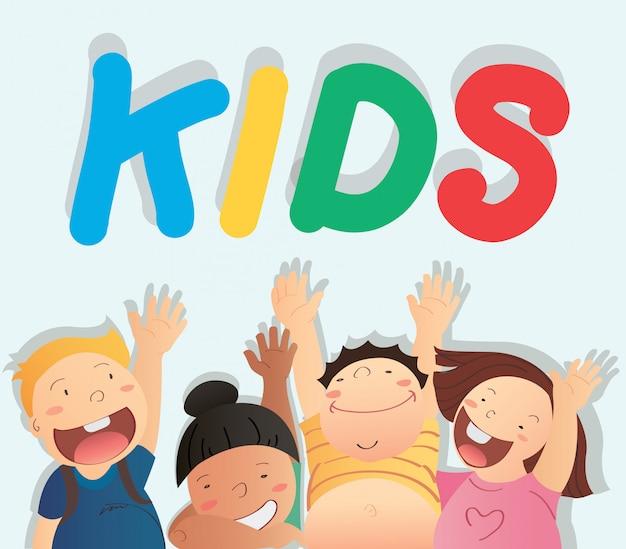 Kids vector Premium Vector