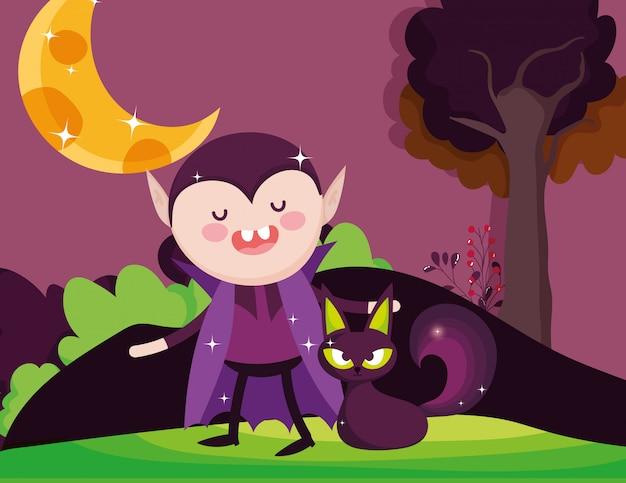 Kids with costume halloween Premium Vector