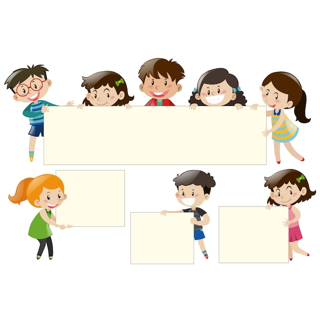 Kids with frames design Vector | Free Download