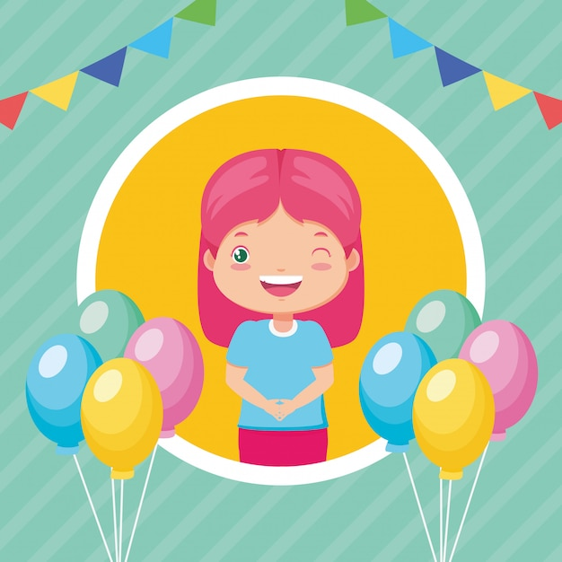 Kids zone background Free Vector
