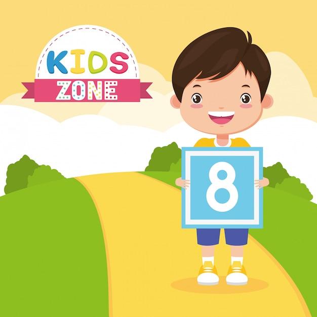 Kids zone background Free Vector