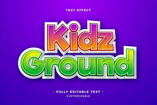 Kidz ground text effect Бесплатные векторы