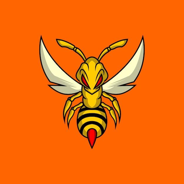 킬러 꿀벌 로고 프리미엄 벡터