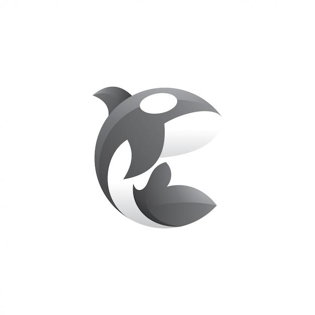 Иллюстрация логотипа косатки orca Premium векторы