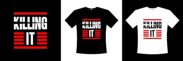 Убийство типография дизайн футболки Premium векторы