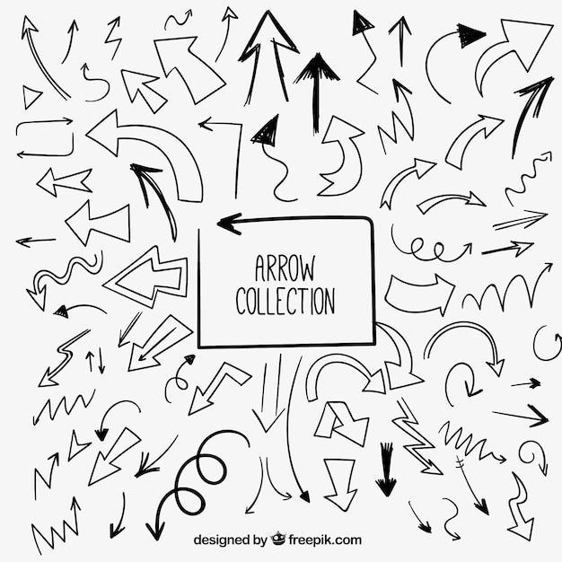 Kind of sketches arrows Free Vector