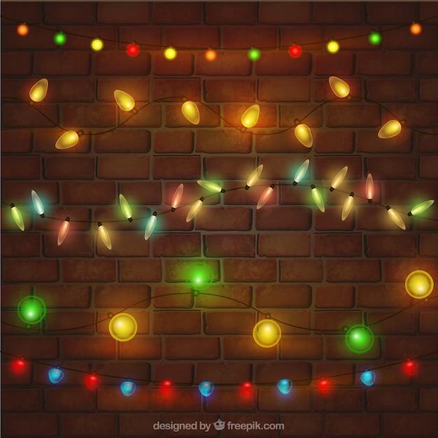 kinds of christmas lights set free vector