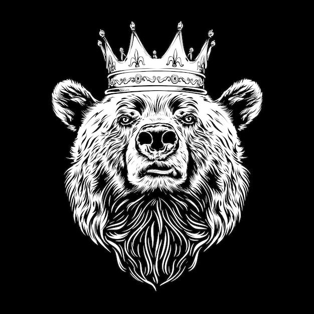Король медведь иллюстрация Premium векторы