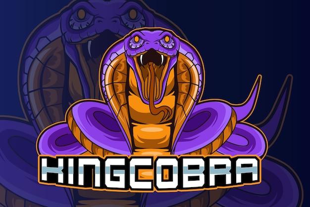 King cobra e sport логотип вектор Premium векторы