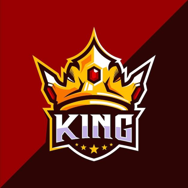 King crown esport logo design Premium Vector