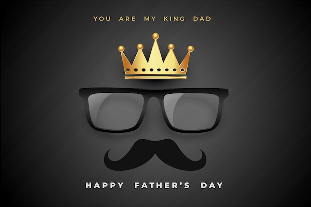 King dad fathers day concept poster  background Free Vector