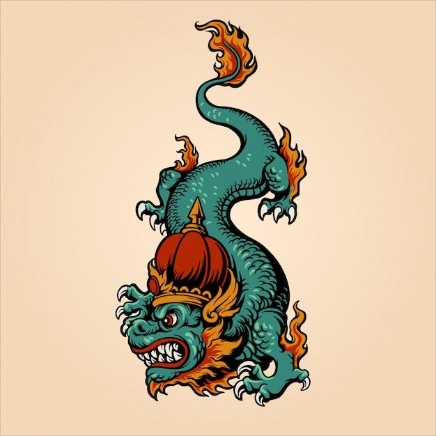 King dragon Premium Vector