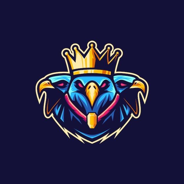 King eagle vetor logo illustration Premium Vector
