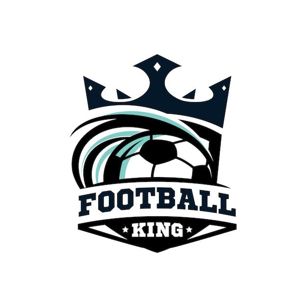 King football logo Premium Vector