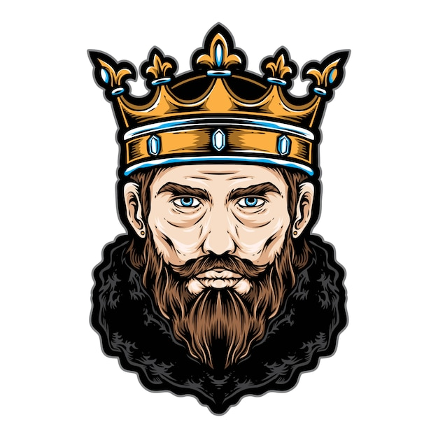 King head vector logo and icon | Premium Vector