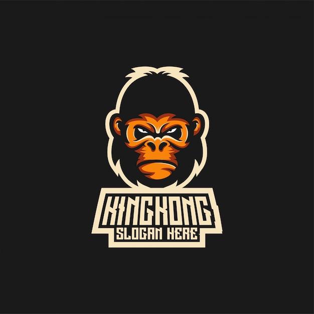 King kong logo ideas Premium Vector