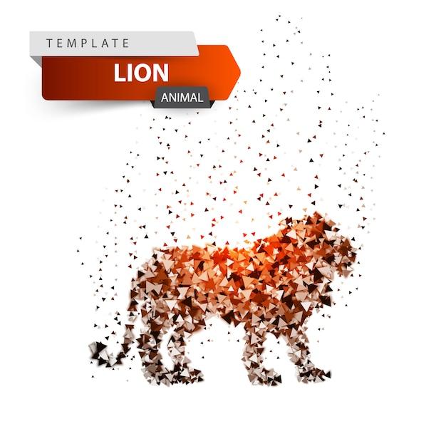 King lion - glare dot illustration Premium Vector