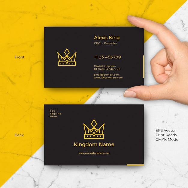 King luxury black business card vector premium download king luxury black business card premium vector colourmoves Images