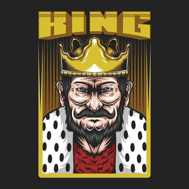 King man illustration Premium Vector
